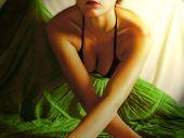 Girl In Green Skirt