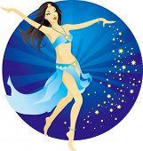 Beautiful belly dancer