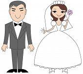 Korean bride and groom.