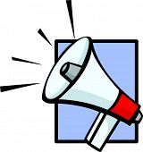 attention!!! electronic bullhorn