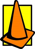 traffic caution cone