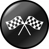 checkered flags button