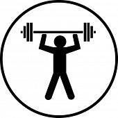 gym weight lifting symbol