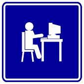 using a computer sign