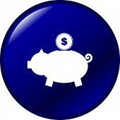 pig bank button