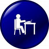 typing in a typewriter button