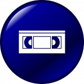 vhs tape button