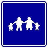 overweight family sign