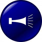 botón de bocina de aire klaxon