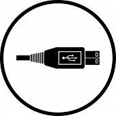 usb cable symbol
