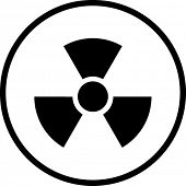 Picture of radioactive symbol.