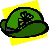 saint patrick day hat with clover