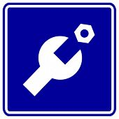 mechanical service or technical support sign