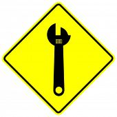 adjustable wrench sign