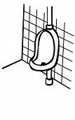 urinario en un cuarto de baño
