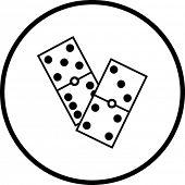 símbolo de dominós