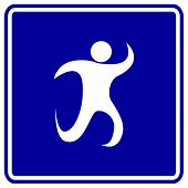 abstract running symbol
