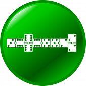 botão de jogo de dominó