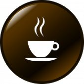 stock photo of bittersweet  - coffee cup button - JPG