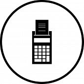 printer calculator symbol