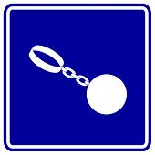heavy ball shackle sign
