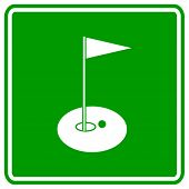 golf hole sign