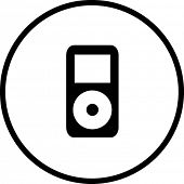portable electronic music player symbol