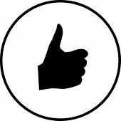 thumb up positive symbol