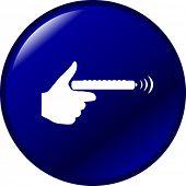 un botón de control remoto
