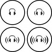 headphones symbols