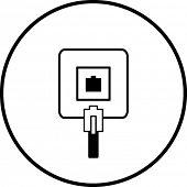 símbolo de toma de teléfono