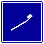 toothbrush sign