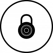 combinatioin lock symbol
