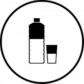 bottled water and glass symbol