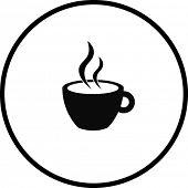 hot beverage in a cup symbol