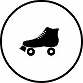 stock photo of roller-derby  - roller skate symbol - JPG