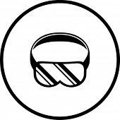 buceo u ojo símbolo de gafas de protección