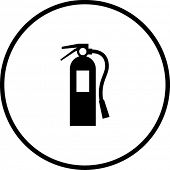 picture of fire extinguishers  - fire extinguisher symbol - JPG
