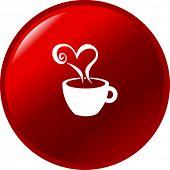 coffee heart button