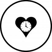 heart time symbol