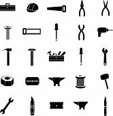 stock photo of nail-cutter  - tools and hardware icon set - JPG
