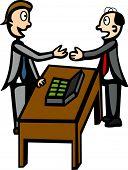 negociação do negócio ou suborno
