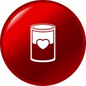 love soup or canned love button