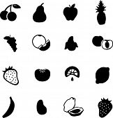 fruit symbol set