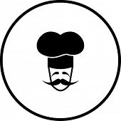 french chef character symbol