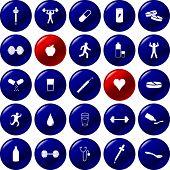 botones de ejercicio y salud