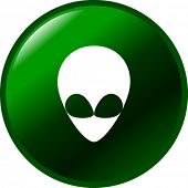 image of ovni  - alien button - JPG
