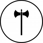medieval axe weapon symbol