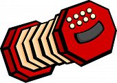 concertina or accordion musical instrument