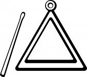 pic of idiophone  - triangle musical instrument - JPG